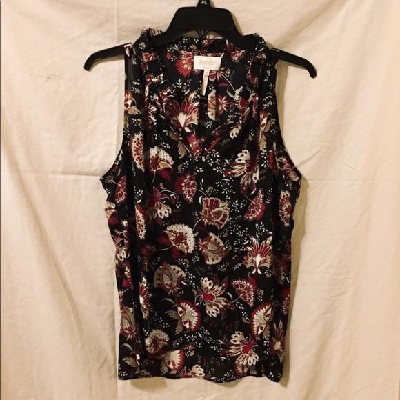 Laundry By Shelli Segal Tops - Black & Maroon Sleeveless Blouse.